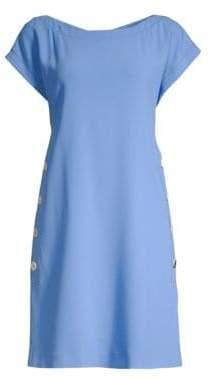 Piazza Sempione Cap Sleeve Button Detail Dress