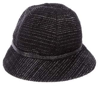 Chanel Metallic Tweed Hat