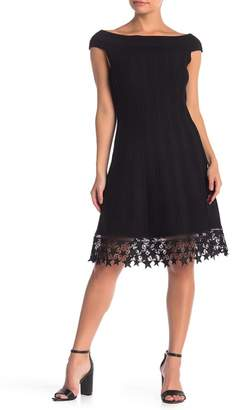 Hale Bob Star Crochet Off-the-Shoulder Dress