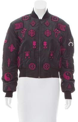 Marcelo Burlon County of Milan Applique Bomber Jacket