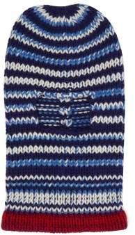 Calvin Klein Striped Wool Knit Balaclava - Mens - Blue