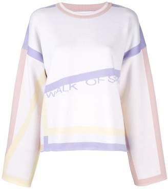 Walk Of Shame graphic print jumper