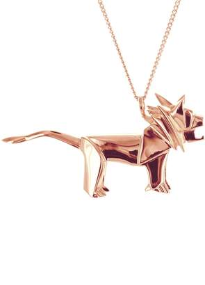 Origami Jewellery Lion Necklace Rose Gold