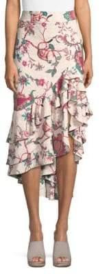 PatBO Jungle-Print Skirt