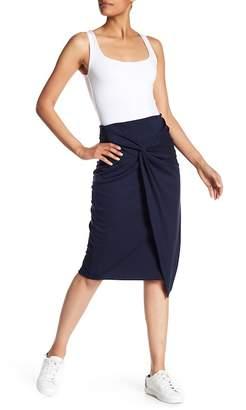 Gibson Ponte Twist Front Skirt