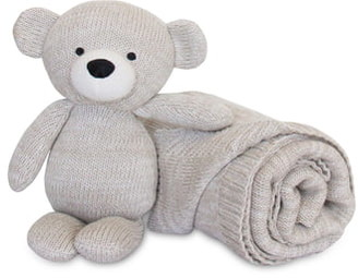 Living Textiles Baby Bento 2-Pack Swaddle & Bear Gift Set