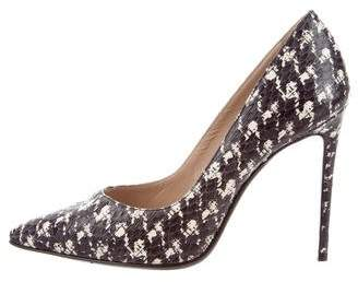 Barbara Bui Pointed-Toe Snakeskin Pumps