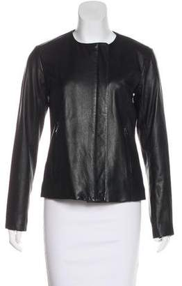 Theory Zip-Up Leather Jacket