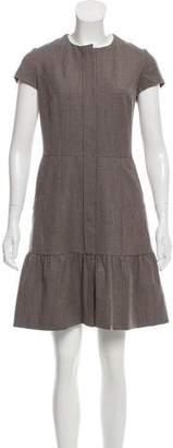 Oscar de la Renta Wool Blend Dress