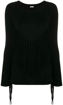 P.A.R.O.S.H. fringed round neck jumper
