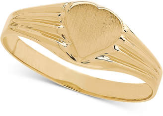 Macy's Heart Signet Ring in 14k Gold