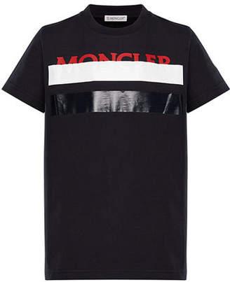 Moncler Colorblock T-Shirt w/ Hidden Logo Text, Size 8-14