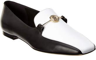 Burberry Almerton Monogram Two-Tone Leather Loafer