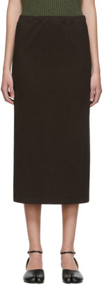 Our Legacy Brown Compact Rib Tube Skirt