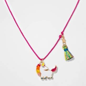 Cat & Jack Girls' Unicorn Necklace with Tassel - Cat & JackTM