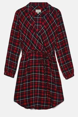 Jack Wills millgate checked wrap shirt dress