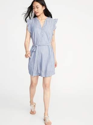 Old Navy Sleeveless Tie-Belt Shirt Dress for Women