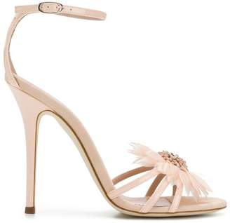 Giuseppe Zanotti Design floral embellishment stiletto sandals