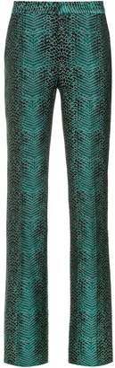 Tufi Duek snakeskin print flared trousers