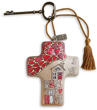 DEMDACO Bless This Home Artful Cross Ornament