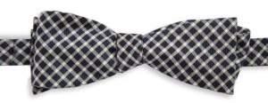 Black & Brown Black Brown Silk Patterned Bow Tie