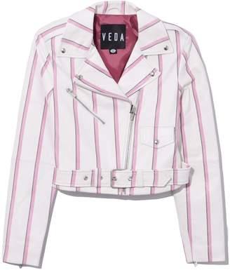 Veda Baby Jane Stripe Leather Jacket in Widestripe