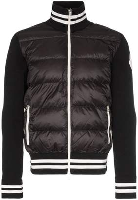 Moncler padded and knitted sleeve jacket