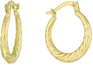 Together Silver & 9ct Bonded Gold Creole Earrings