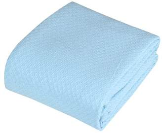 +Hotel by K-bros&Co Hotel Luxury Collection Intradeglobal Hotel Luxury Super soft Cotton Blanket, King, Canal Blue