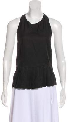 L'Agence Sleeveless Pleated Top