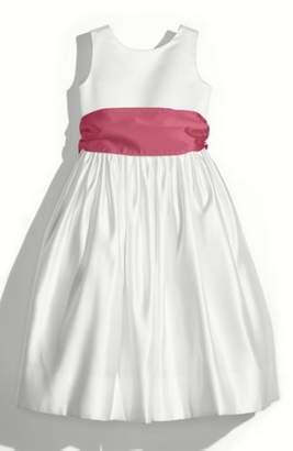 Us Angels White Tank Dress with Satin Sash