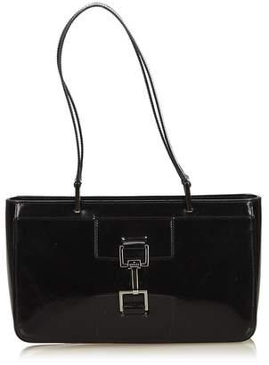 Gucci Vintage Patent Leather Shoulder Bag