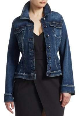 Marina Rinaldi Ashley Graham x Ski Blue Super Stretch Jean Jacket