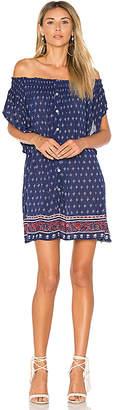 FAITHFULL THE BRAND Deia Dress in Navy $135 thestylecure.com