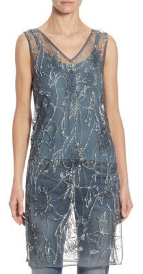 Polo Ralph Lauren Sequined Tulle Tunic $398 thestylecure.com