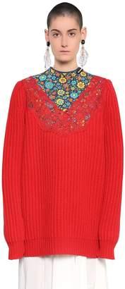 Balenciaga Oversized Wool Rib Knit Sweater