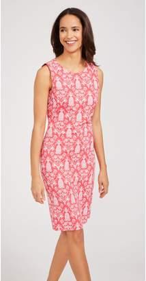 J.Mclaughlin Sophia Sleeveless Dress in Pineapple Palms