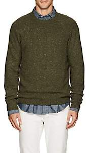 Fioroni Men's Marled Cashmere Sweater - Dk. Green