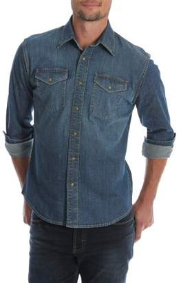Wrangler Men's and Big & Tall Premium Slim Fit Denim Shirt, up to Size 5XL