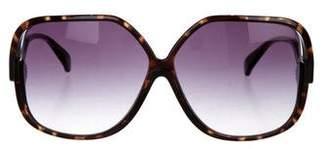 Diane von Furstenberg Tortoiseshell Oversize Sunglasses
