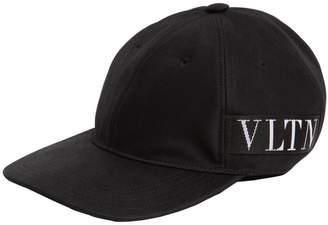Valentino Vltn Logo Cotton Canvas Baseball Hat