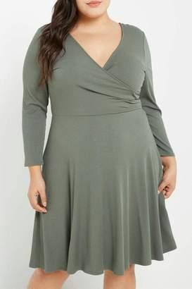 MaiTai Olive Ribbed Dress