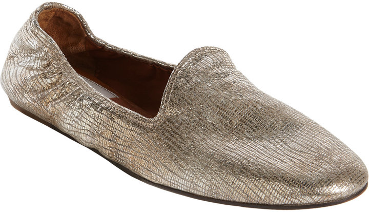 Lanvin Tejus-Effect Slipper