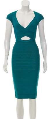 Herve Leger Cara Cutout Dress
