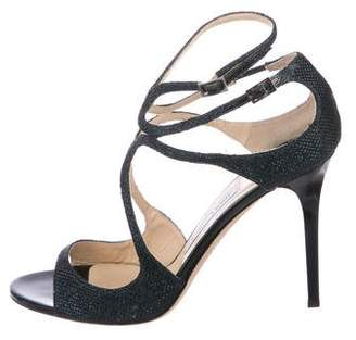 Jimmy Choo Lang Glitter Sandals