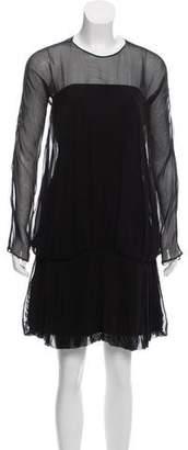 Milly Sheer Long Sleeve Dress