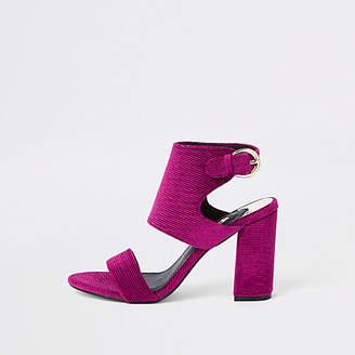 River Island Pink block heel sandals