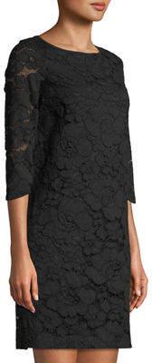 Karl Lagerfeld Paris 3/4 Sleeve Lace Shift Dress