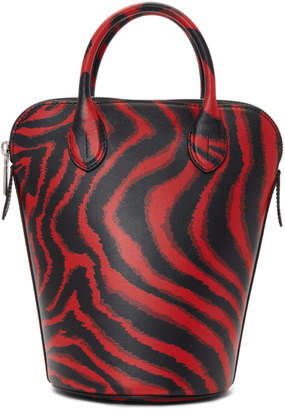Calvin Klein Red Zebra Mini Dalton Bucket Bag