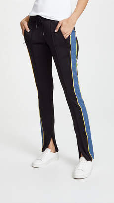 Pam & Gela Cigarette Track Pants with Denim Stripe